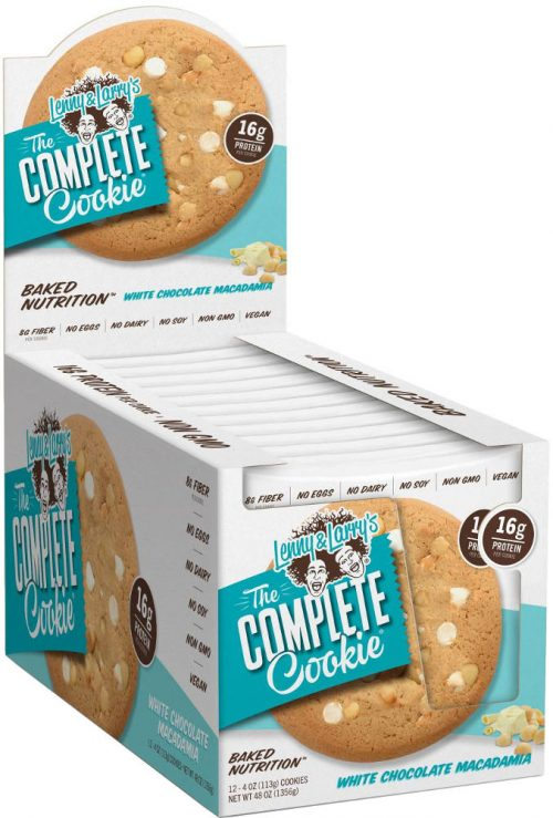 Lenny & Larry's Complete Cookie - 12 4oz Cookies White Chocolate Macad