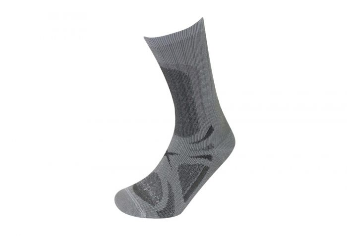 Lorpen T3 All Season Trekker Socks - grey heather, small