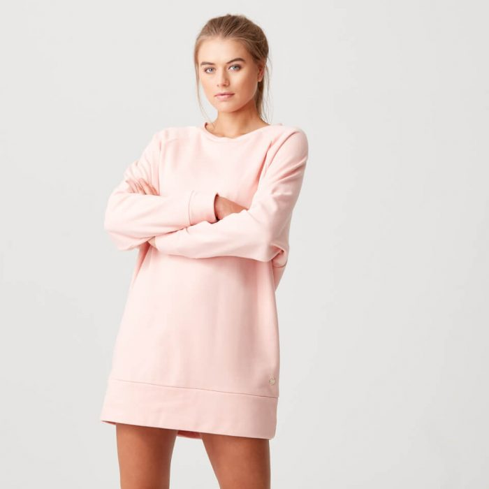 Luxe Lounge Sweater Dress - Blush - XL