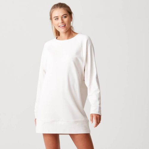 Luxe Lounge Sweater Dress - Oatmeal - S