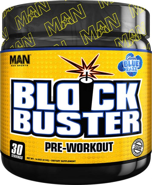 MAN Sports Blockbuster - 30 Servings Glacier Blue Razz