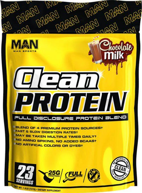 MAN Sports Clean Protein - 2lbs Chocolate Milk