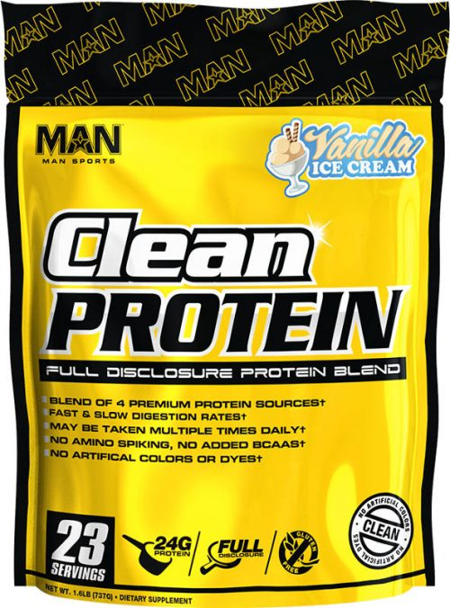 MAN Sports Clean Protein - 2lbs Vanilla Ice Cream