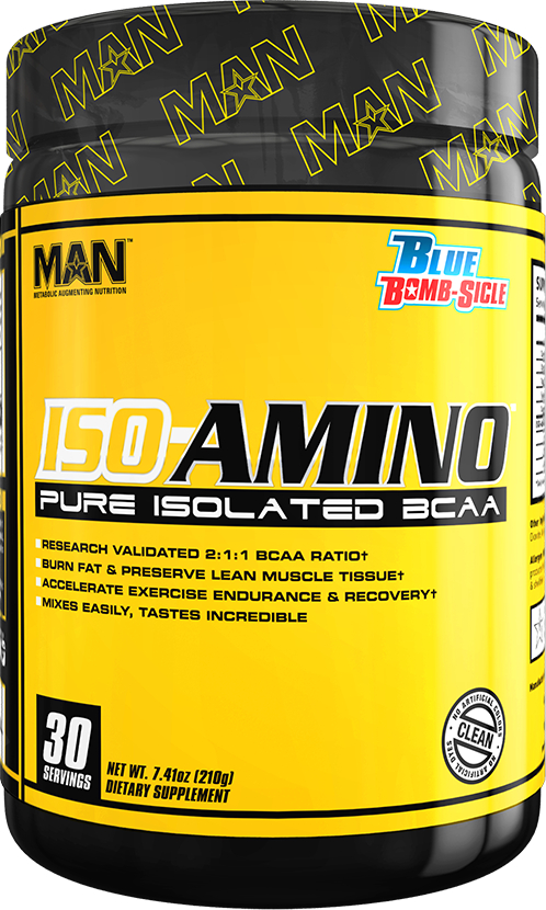 MAN Sports ISO-Amino - 30 Servings Blue Bomb-Sicle
