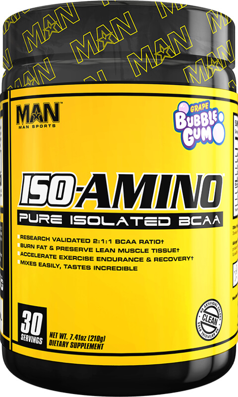 MAN Sports ISO-Amino - 30 Servings Grape Bubblegum