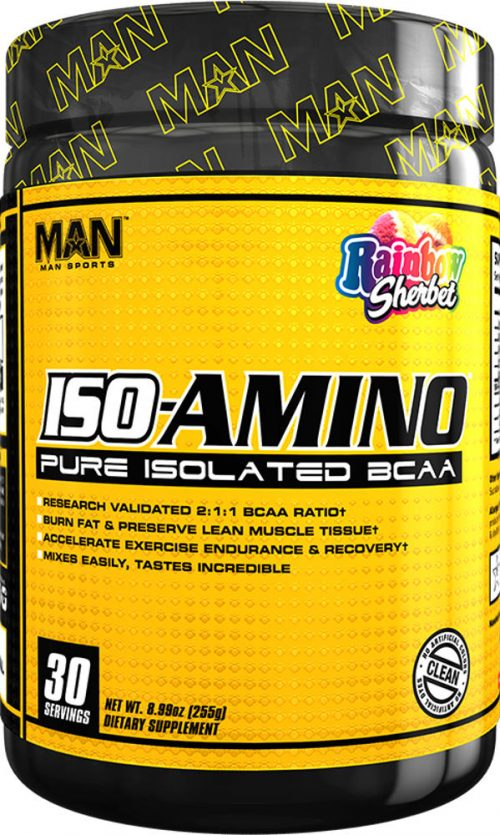 MAN Sports ISO-Amino - 30 Servings Rainbow Sherbet