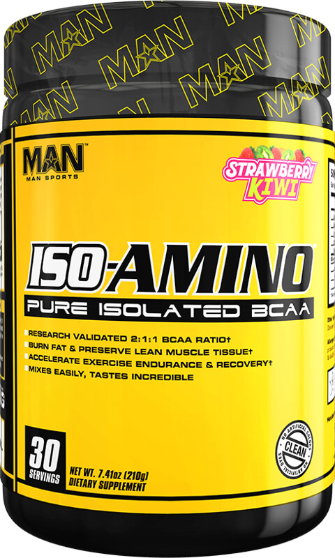 MAN Sports ISO-Amino - 30 Servings Strawberry Kiwi