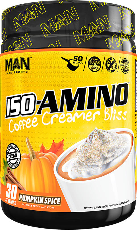MAN Sports ISO-Amino Coffee Creamer - 30 Servings Pumpkin Spice
