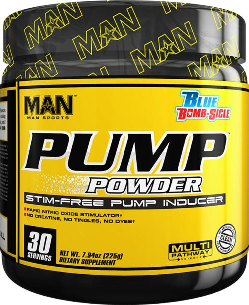 MAN Sports Pump Powder - 30 Servings Blue Bomb-Sicle