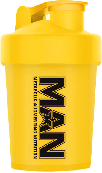 MAN Sports Shorty Shaker - 16oz Yellow