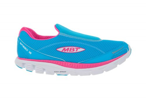 MBT Speed Slip On Shoes - Women's - powder blue/fuchsia, 10.5
