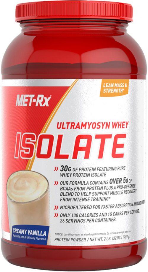 MET-RX Ultramyosyn Whey Isolate - 2lbs Creamy Vanilla