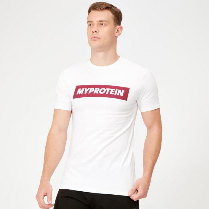 MP Boxed Burgundy T-Shirt - White - XS