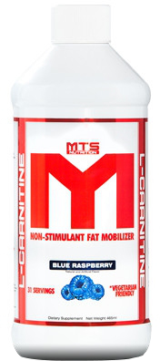 MTS Nutrition L-Carnitine - 31 Servings Blue Raspberry