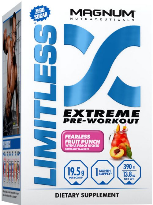 Magnum Nutraceuticals Limitless - 20 Servings Fruit Punch with a Peach
