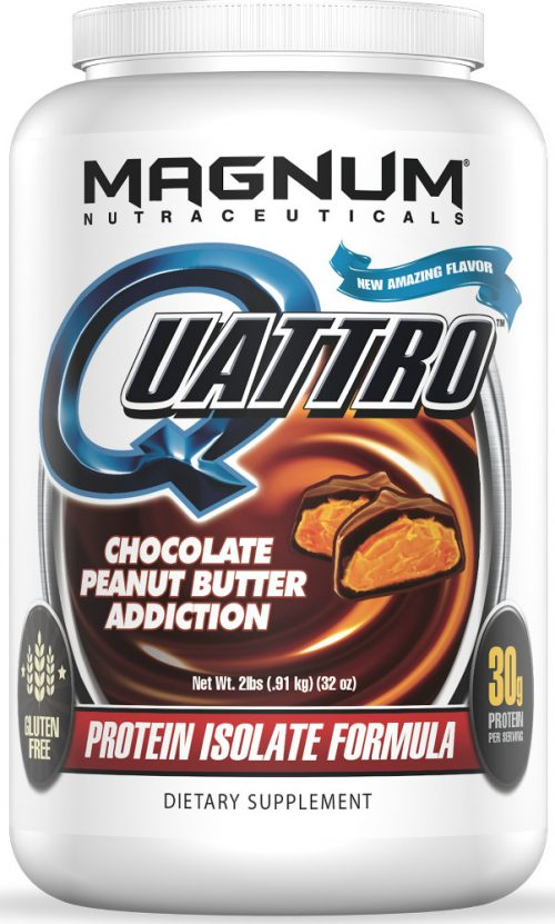 Magnum Nutraceuticals Quattro - 2lbs Chocolate Peanut Butter Addiction