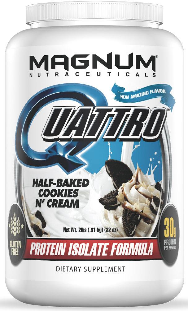 Magnum Nutraceuticals Quattro - 2lbs Half Baked Cookies N' Cream