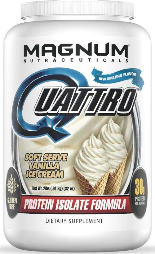 Magnum Nutraceuticals Quattro - 2lbs Vanilla Ice Cream