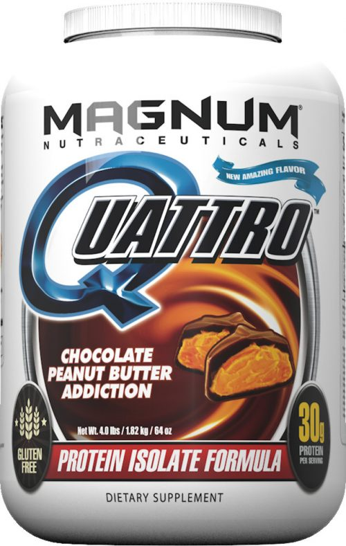Magnum Nutraceuticals Quattro - 4lbs Chocolate Peanut Butter Addiction