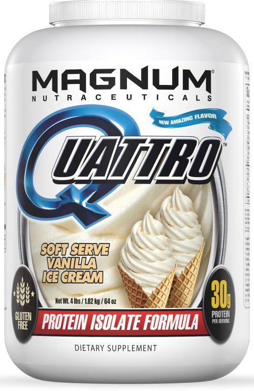 Magnum Nutraceuticals Quattro - 4lbs Vanilla Ice Cream