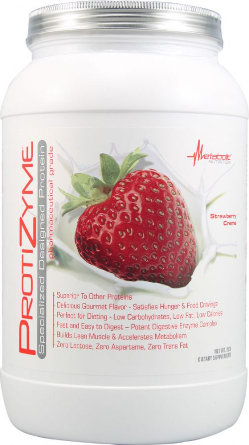 Metabolic Nutrition ProtiZyme - 2lbs Strawberry Creme