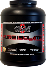 Muscle Gauge Nutrition Pure Whey Protein Isolate - 2lbs Chocolate Cara