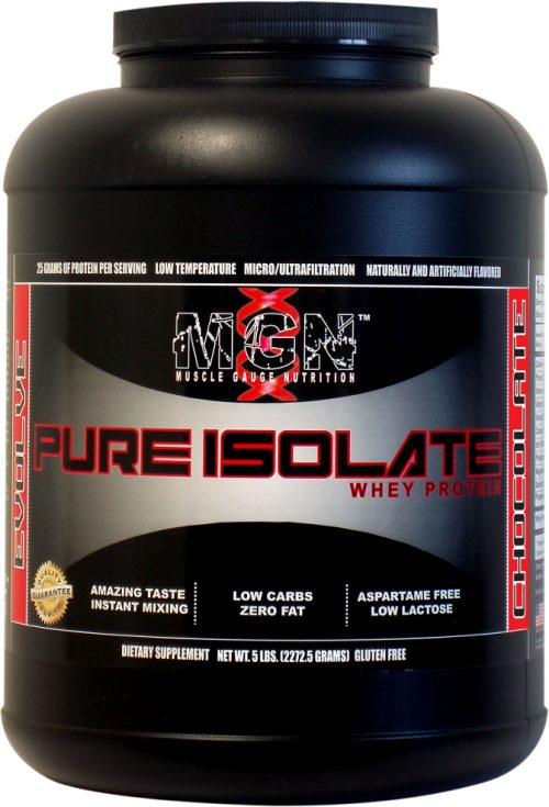 Muscle Gauge Nutrition Pure Whey Protein Isolate - 5lbs Chocolate