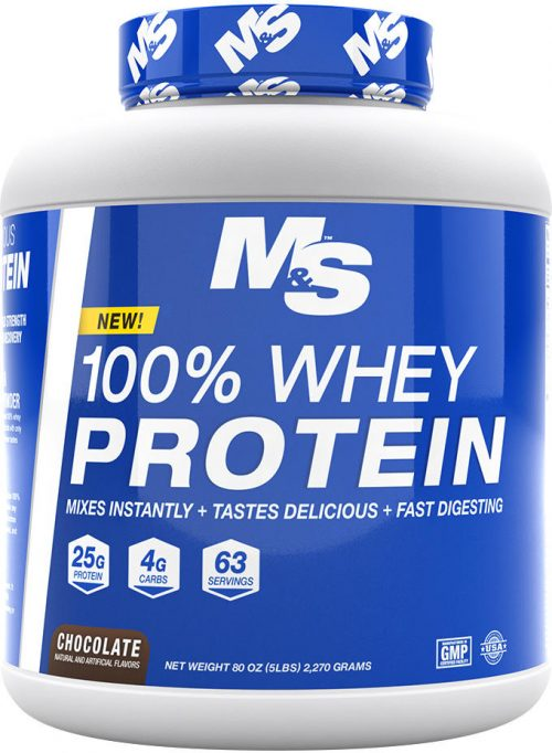 Muscle & Strength 100% Whey Protein - 5lbs Chocolate
