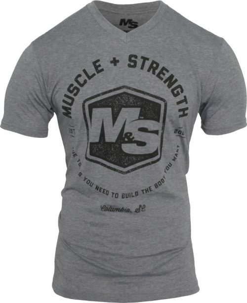 Muscle & Strength Hexagon V-Neck - Heather Medium