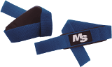 Muscle & Strength Padded Lifting Straps - 1 Blue Pair
