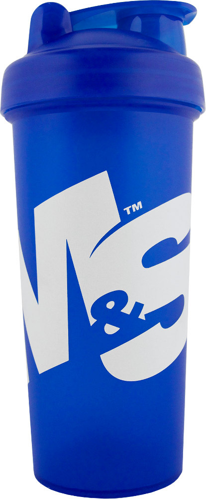 Muscle & Strength Signature Shaker Bottle - 22oz Blue