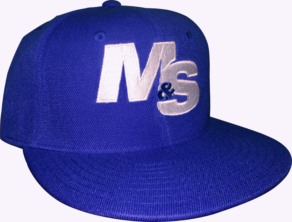 Muscle & Strength Snapback Hat - One Size Blue/White