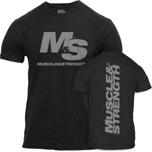 Muscle & Strength Spinal T-Shirt - Black Large