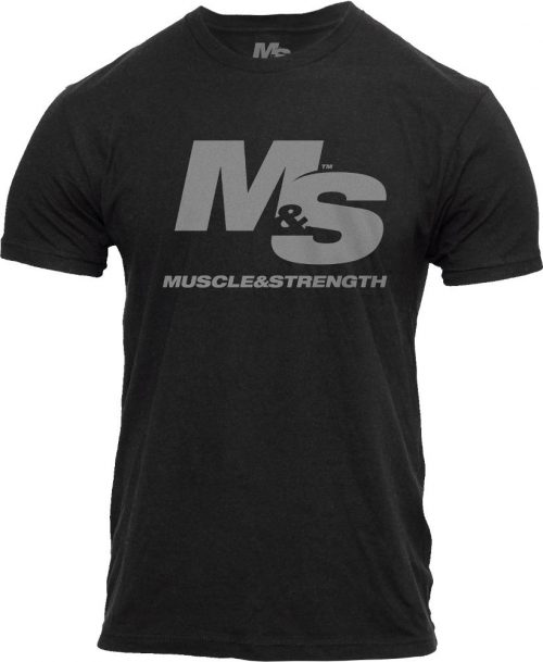 Muscle & Strength Spinal T-Shirt - Black Medium