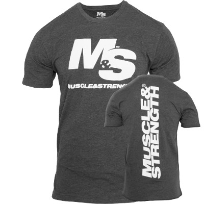 Muscle & Strength Spinal T-Shirt - Charcoal XXL