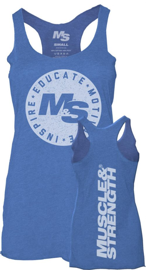 Muscle & Strength Women's Seal Tank - Blue Small