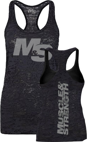 Muscle & Strength Women's Spinal Burnout Tank - Black Medium