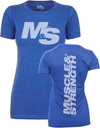 Muscle & Strength Women's Spinal Crew - Blue Large