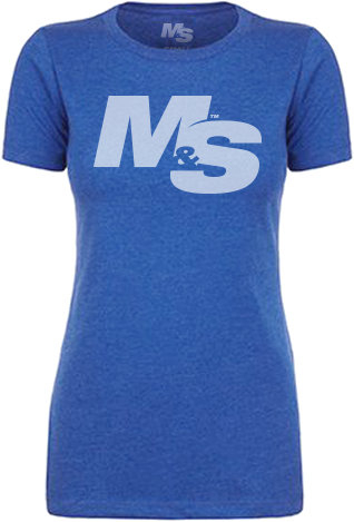 Muscle & Strength Women's Spinal Crew - Blue Small