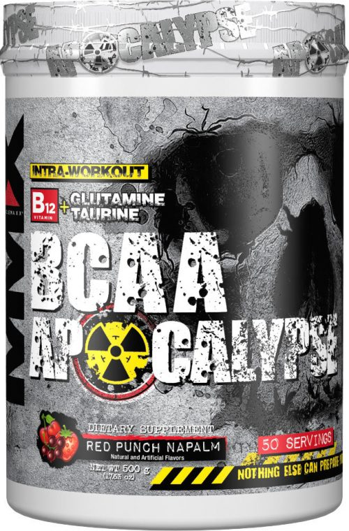 MuscleMaxx BCAA Apocalypse - 50 Servings Red Punch Napalm