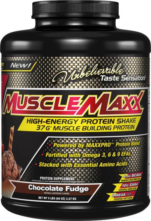 MuscleMaxx High Energy Protein Shake - 5lbs Chocolate Fudge
