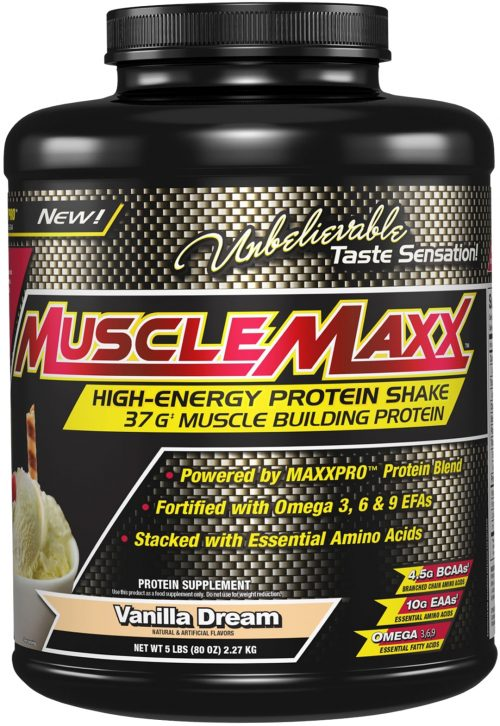 MuscleMaxx High Energy Protein Shake - 5lbs Vanilla Dream