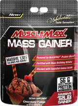MuscleMaxx Mass Gainer - 12lbs Chocolate Fudge