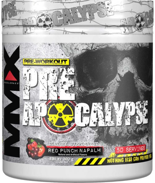MuscleMaxx PRE Apocalypse - 50 Servings Red Punch Napalm