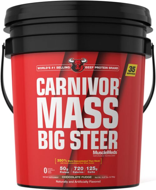 MuscleMeds Carnivor Mass - 15lbs Big Steer Chocolate Fudge