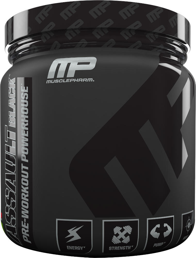 MusclePharm Assault Black - 30 Servings Fruit Punch