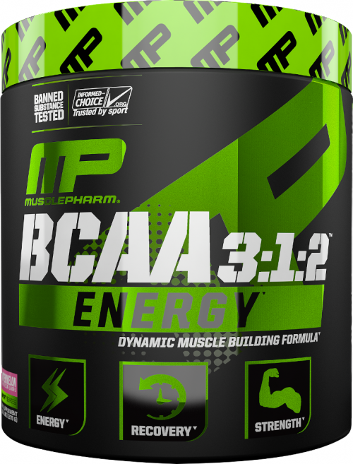MusclePharm BCAA 3:1:2 Energy - 30 Servings Blue Raspberry