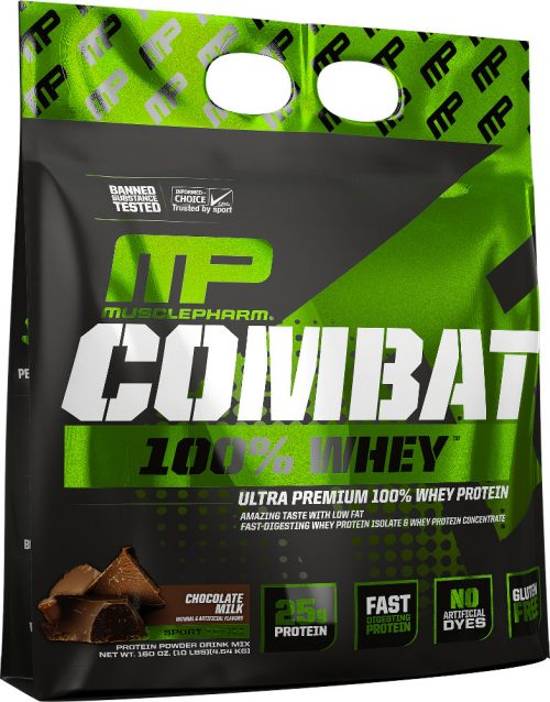 MusclePharm Combat 100% Whey - 10lbs Chocolate Milk
