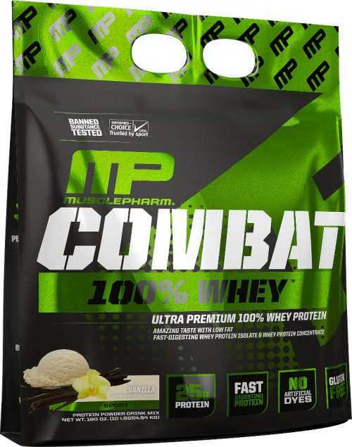 MusclePharm Combat 100% Whey - 10lbs Vanilla