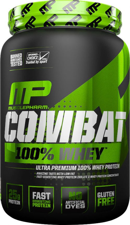 MusclePharm Combat 100% Whey - 2lbs Strawberry